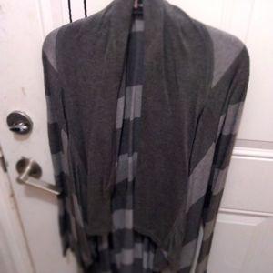Calvin Klein striped long cardigan